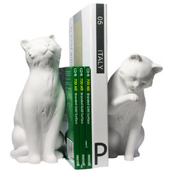 Contemporary Bookends by Danya B.