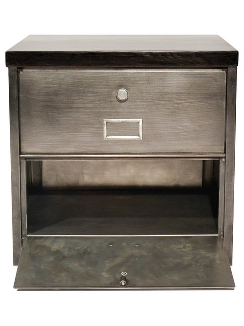 Meuble clapet vintage industriel strafor 1x2 for Meuble cabinet industriel