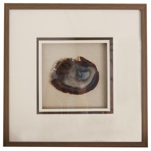 Natural Agate With Driftwood Frame