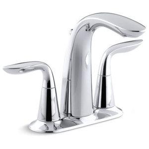 Kohler Refinia Centerset Bathroom Sink Faucet w/ Lever Handles, Polished Chrome