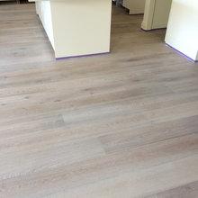 Lime wash European oak flooring