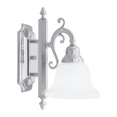 French Regency Bath Light, Chrome