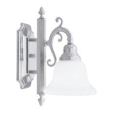 French Regency Bath Light, Chrome