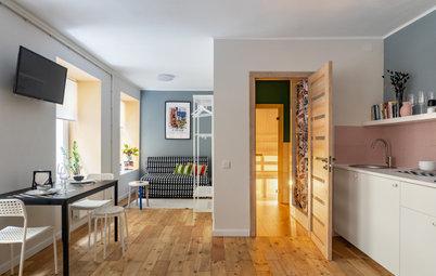Houzz тур: Апартаменты с сауной в старом флигеле Санкт-Петербурга