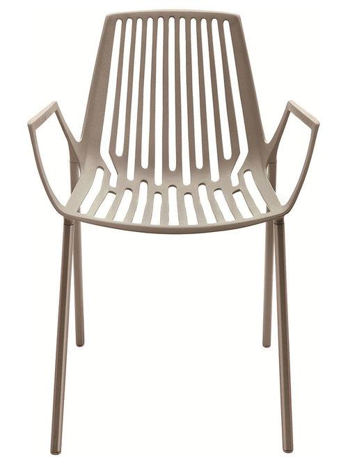 Rion Karmstol Stapelbar, Beige - Udendørs spisebordsstole