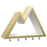 Six Finger Studios - Mountain Key Rack and Entryway Organizer, White - Mountain Key Rack and Entryway Organizer