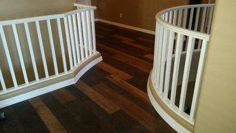 Reclaimed Hickory Replica Hardwood Flooring Installation in Wadell