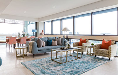 Room Tour: A Sizeable Living Space Pulls a Cohesive Act