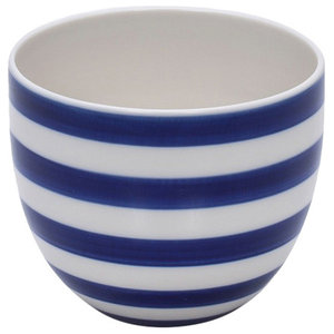 Anne Black Stripes Hand Thrown Cup, Wide Stripes