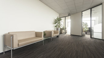 Acoustical Ceiling with Round Diffuser