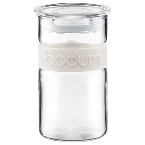 Bodum Presso Glass Storage Jar 0.25 l./8 oz., Off White