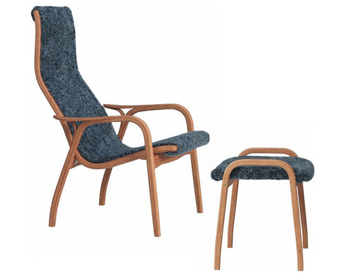 Lamino Set Fårskinn/Ek, Graphite - Hvilestole