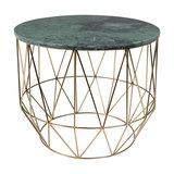 Deep Emerald Marble Geometric Table