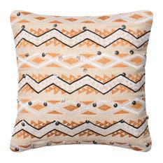 "Loloi x Justina Blakeney Abstract Zigzag Stripe Pillow, Down Insert, 18""x18"""