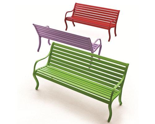 Oasi 2-sits Bänk, Röd - Udendørs bænke