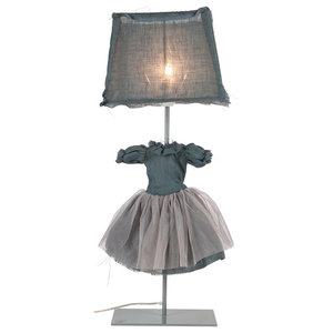 Frida Table Lamp, Blue Grey