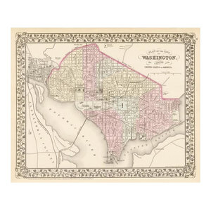 Cincinnati Ohio 1880 Paper Print By Samuel Augustus Mitchell 18 X17 Traditional Prints And Posters By Global Gallery
