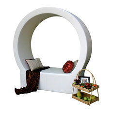 Pod Circular Lounger, Chill White