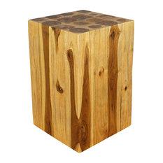 Haussmann Inc Farmed Teak Sustainable Wood Block Hollow Livos Walnut Oil Finish
