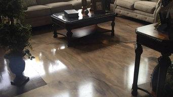 Epoxy/Reflector Flooring