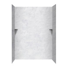 Swan 36x62x96 Solid Surface Shower Wall Surround, Ice