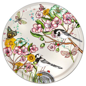Wagtails Spring Off-White Tray, 46 cm