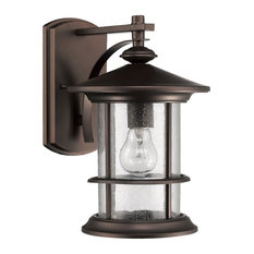 Outdoor Lights: Chloe Lighting - Ashley Superiora Transitional 1-Light Outdoor Sconce,  Rubbed Bronze - Outdoor,Lighting