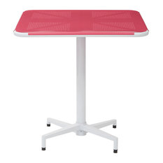 "Albany 30"" Square Folding Table, Pastel Pink"