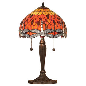 Dragonfly 60 W Table Lamp, Flame, Small