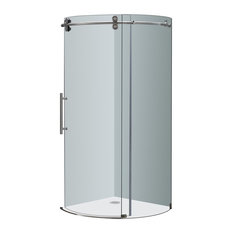 36 x 36 corner shower stall. Aston  Orbitus 36 x36 x75 Frameless Round Shower Enclosure Stainless 36X36 Stalls And Kits Houzz