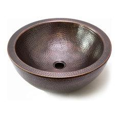 Houzer Hammerwerks Series Copper Double Wall Vessel Sink, Copper