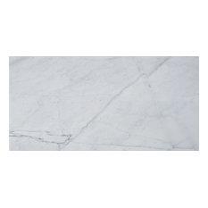 """8""""x16"""" Italian Carrara Venato Tile Polished and Beveled"""