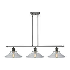 Orwell 3-Light LED Island Light, Oil Rubbed Bronze, Glass: Clear