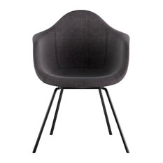 Mid Century Classroom Arm Chair, Charcoal Gray