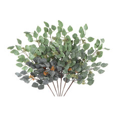 """Real Touch Eucalyptus 24"""" Powdered With Seeds 6 Pcs"""