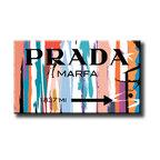 Eco-solvent Canvas Print Prada Marfa Fashion Wall Artwork Art