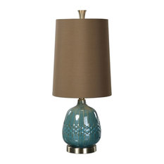 uttermost textured teal blue ceramic buffet lamp table lamps