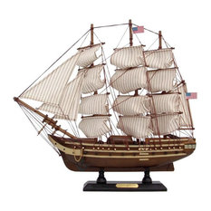 """Wooden USS Constitution Tall Model Ship 15"""""""