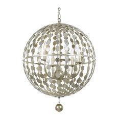Crystorama Lighting - Crystorama Layla 6 Light Antique Silver Chandelier - Chandeliers