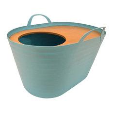 <砂が飛び散らない>上から入る猫トイレ<インテリアとしてもオシャレ> Uppifrån 【ライトブルー】