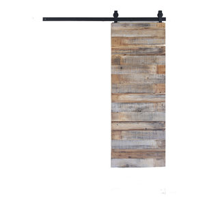 "Reclaimed Horizontal Sliding Barn Door, 30""X80"""