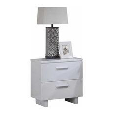 23-inchx15-inchx23-inch White Wooden Leg Nightstand by HomeRoots