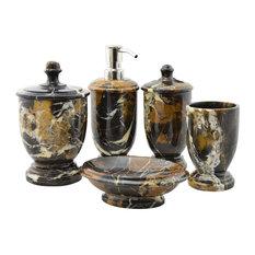 Michelangelo Marble 5-Piece Bathroom Accessories Set of Atlantic Collection