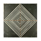"17.75""x17.75"" Illusion Ceramic Floor/Wall Tiles, Set of 5"