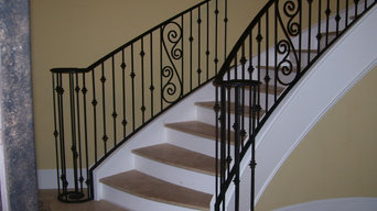 Curved stair rails