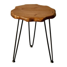 Welland Natural Edge Side Table With Hairpin Legs
