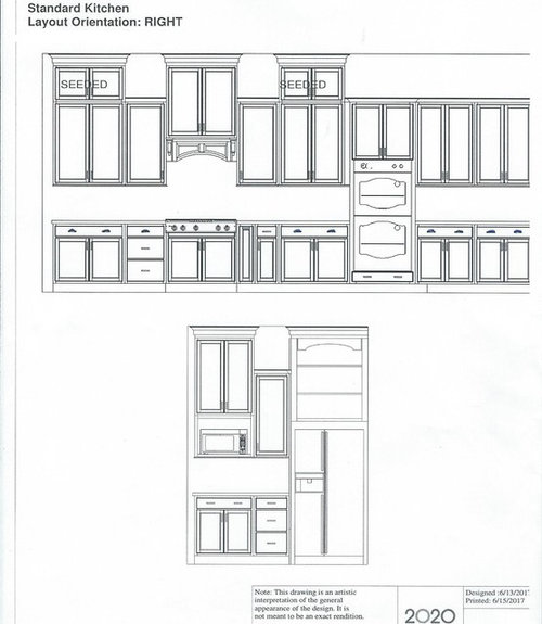 Layout Design Kitchen Cabinets: Kitchen Cabinet Layout With 10' Ceilings