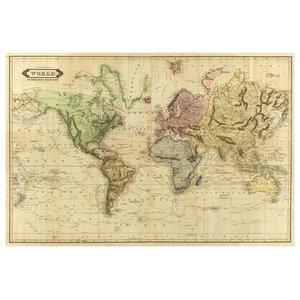 World Map Vintage 1913 Poster Print by Ramona Murdock (12 x ...