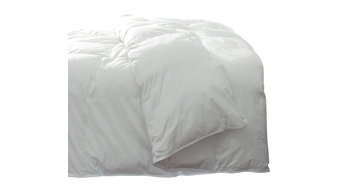 Silky Cotton Sateen Pima Down Comforter, White, Oversized King