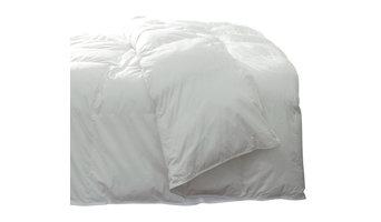 Silky Cotton Sateen Pima Down Comforter, White, Oversized King